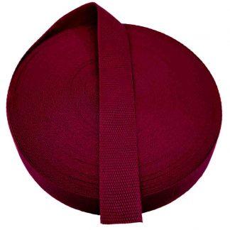 Cinta de mochila de 30 mm de ancho en color burdeos