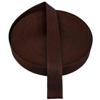 Cinta de mochila de 30 mm de ancho en color marrón