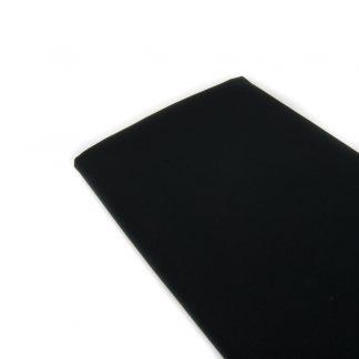 Tela de popelín de algodón hidrófugo y antibacteriano en color negro especial para coser mascarillas reutilizables