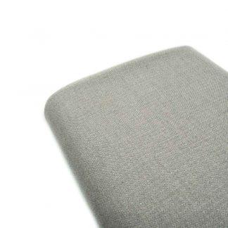 Tela de espiga en algodón orgánico gots en color gris perla