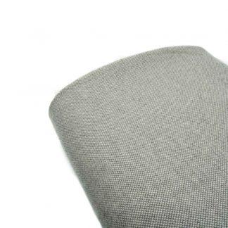 Tela de cheviot de algodón orgánico gots en color gris perla