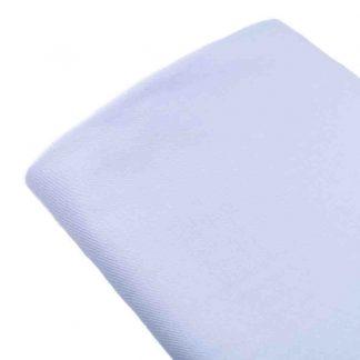 Tela viyela de algodón orgánico GOTS en color azul bebé