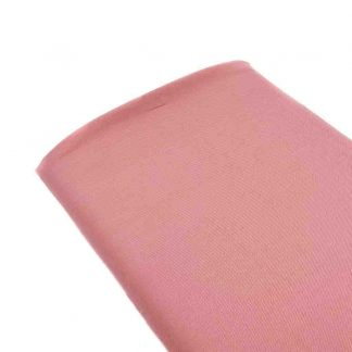 Tela viyela de algodón orgánico GOTS en color rosa palo