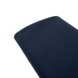 Tela viyela de algodón orgánico GOTS en color azul marino