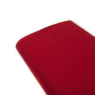 Tela viyela de algodón orgánico GOTS en color rojo