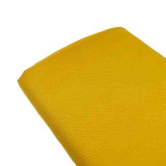 Tela viyela de algodón orgánico GOTS en color mostaza