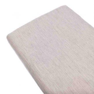 Tela viyela de algodón orgánico GOTS en color gris vigoré