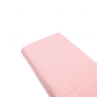 Tela de lino color rosa bebé