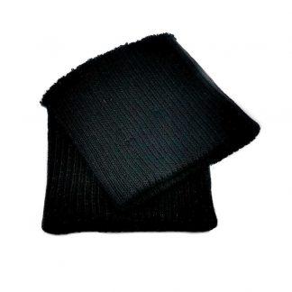 Puños de punto en color negro
