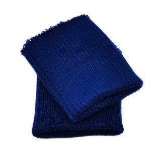 Puños de punto en color azul marino claro
