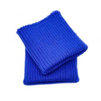 Puños de punto en color azulón