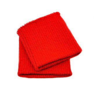 Puños de punto en color rojo