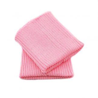 Puños de punto en color rosa