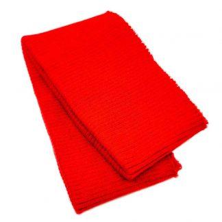 Cinturilla de punto en color rojo