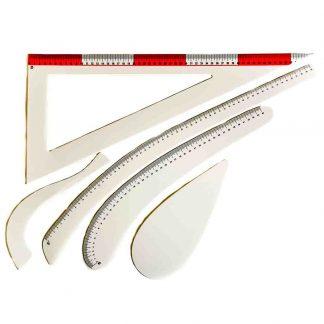 Kit de reglas de plástico flexible para trabajos de costura y patronaje