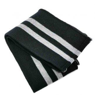 Cinturilla de punto a rayas en colores negro y gris