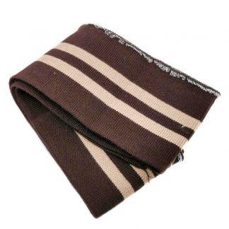 Cinturilla de punto a rayas en colores marrón y beige