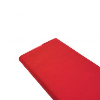Tela de forro de algodón en color rojo