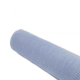Tela vichy de rayas en color azulón
