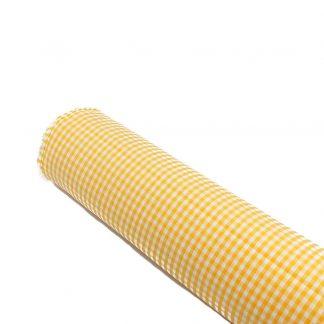 Tela vichy de cuadros en color amarillo