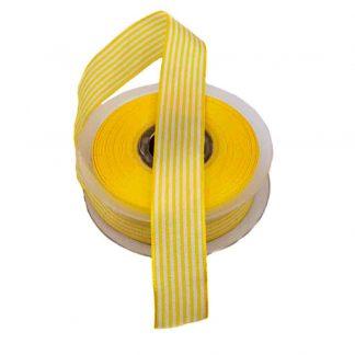 Cinta de rayas vichy en color amarillo