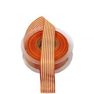 Cinta de rayas vichy en color naranja