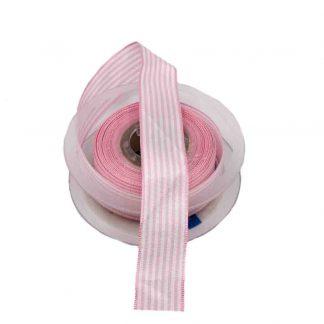 Cinta de rayas vichy en color rosa