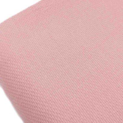 Tela de piqué de nido de abeja tamaño pequeño en color rosa empolvado