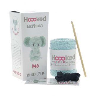 kit amigurumi de la marca Hoooked para tejer al elefante MO