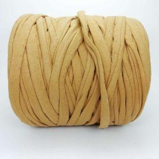 Madeja de trapillo de algodón reciclado en color camel