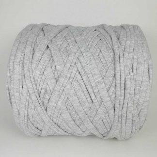 Madeja de trapillo de algodón reciclado en color gris aluminio