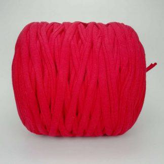 Madeja de trapillo de algodón reciclado en color rojo