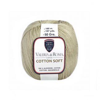 Ovillo 100% algodón de tejer modelo Cotton Soft de la marca Valeria Lanas