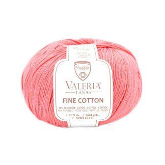 Ovillo de tejer modelo Fine Cotton de la marca Valeria Lanas