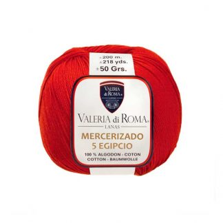 Ovillo para tejer de algodón modelo Mercerizado 5 Egipcio de la marca Valeria Lanas